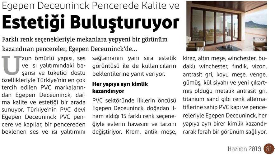 Yapı Magazin - June 2019