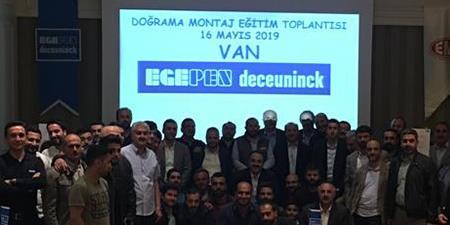 Egepen Deceuninck Montaj Eğitimleri Van'da Devam Ediyor
